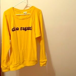 JOIE Ciao Ragazzi Yellow Sweatshirt SIze XS-M